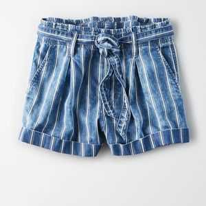 NEVER WORN aeo paper bag shorts